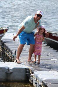 Dad & daughter fish